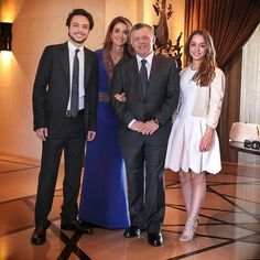 King Abdullah , Queen Rania and their children attended wedding of Princess Ayah of Jordan and Mohammad Halawani.