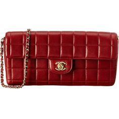 Chanel Burgundy Chocolate Bar Quilted Lambskin Leather East West... (5,625 SAR) ❤ liked on Polyvore featuring bags, handbags, shoulder bags, nocolor, red shoulder bag, long shoulder bags, quilted purses, flap shoulder bag and burgundy handbags