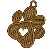 Free Standing Lace Pup Ornaments from A Design By Lyn Machine Embroidery Designs