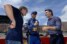 Bill and Chase Elliott with Jeff Gordon