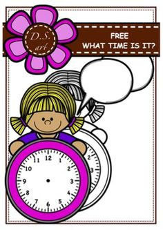 FREE - What time is it? Clipart (color and black&white)