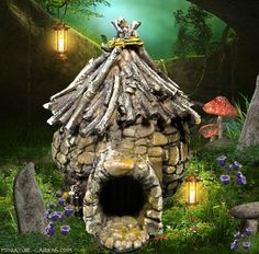 Tiny Troll Hut - Enchanted Gardens