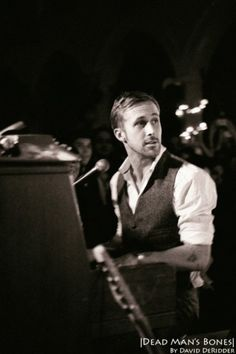 ryan gosling - dead man's bones Could he be any hotter?! Plus his music is pretty brilliant as well! Kudos to him for being so perfect!