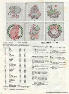 Schema punto croce Decorazione 2d