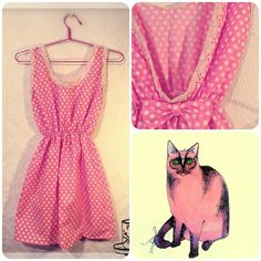 Cute pink polka dot dress with lace finishes by MyNameIsSueclothes,  etsy shop: https://www.etsy.com/listing/173724385/cute-pink-polka-dot-dress-with-lace?ref=related-1  fb page: https://www.facebook.com/pages/MyNameIsSue/287566731284089