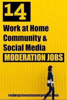 14 Work at Home Community & Social Media Moderation Jobs