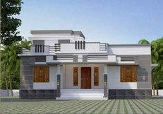 1026 Sq Ft Single Storey Beautiful House and Plan, 15 Lacks - Home Pictures House Balcony Design, Single Floor House Design, 2 Storey House Design, House Outside Design, Village House Design, Kerala House Design, Simple House Design, Bungalow House Design, House Front Design