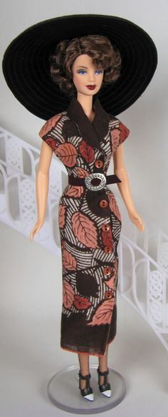Brown belted shirt dress for Silkstone Barbie by HankieChic, on Etsy now