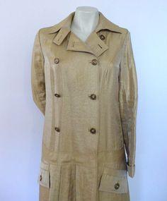 Vintage Diane Von Furstenberg coat spring colour yellow/gold for sale on Etsy