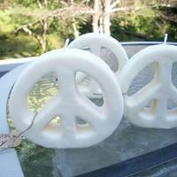 Peace Man soy Candles from Woodstock Peace & Candles!