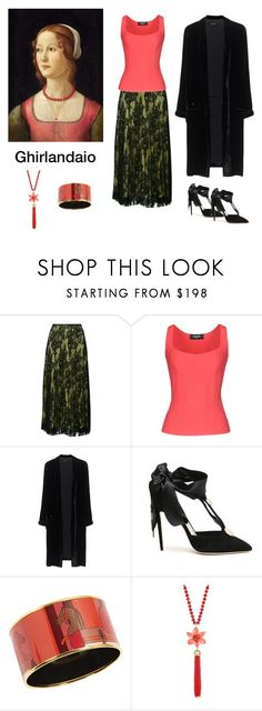"""""""Ghirlandaio Inspired- *see description"""" by scolab ❤ liked on Polyvore featuring Ermanno Scervino, Dsquared2, Jadicted, Olgana, Hermès, Kate Spade and contemporary"""