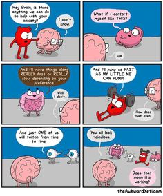 "The Awkward Yeti cartoon comics (@theawkwardyeti) on Instagram: ""#anxiety (one of dozens of comics that was created for Heart and Brain: Gut Instincts! Available at…"""