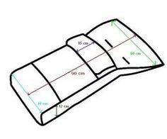 Выкройка конверт в санки своими руками.