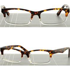 117bc2a700 Amazon.com  Light Men Women Acetate Frame Spring Hinges Prescription Glasses  Tortoiseshell  Clothing