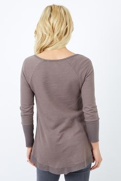 Assymetric Hem Pullover by SLOANE ROUGE