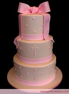 Christening Cake - Perfect for a Girl! » Christening Cakes
