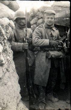 Hiver dans les tranchées 1917.