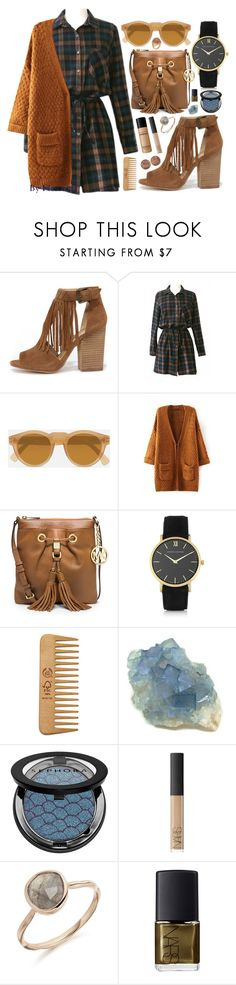 """""""Turn the light off 💡(#bhalo)"""" by florenciafashionstreethunter ❤ liked on Polyvore featuring Chinese Laundry, Bare Escentuals, Local Supply, MICHAEL Michael Kors, Larsson & Jennings, The Body Shop, Sephora Collection, NARS Cosmetics and David Yurman"""