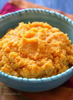 Slow Cooker Garlic Sweet Potato Mash