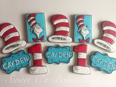 Dr. Seuss  Cookies by SweetCBakeShop on Etsy,
