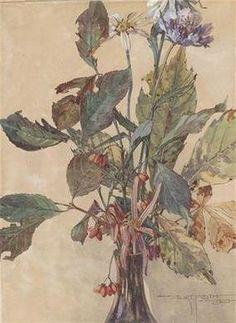 Gustav Feith, Flowers in a vase, 1920