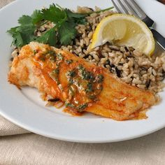 Tilapia with Cilantro Butter