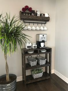 Industrial Coffee Bar Combination / Coffee Bar / Coffee Station / Coffee Bar Table / Coffee Storage/ Purchase Pair and Save - All About Decoration Coffee Bars In Kitchen, Coffee Bar Home, Coffe Bar, Coffee Cup, Coffee Corner, Coffee Bar Ideas, Coffee Bar Design, Coffee Nook, Coffee Maker