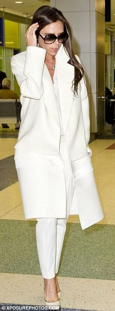 Victoria Beckham at #JFK 2014 via glambeckhamsweb WOW! love love love. I think you will like it .credit card accept. Share with you…