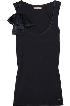 Juicy Couture | Bow-embellished cotton-blend jersey tank | NET-A-PORTER.COM - StyleSays