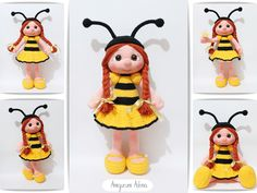 Amigurumi Arı Kız- Amigurumi Bee Doll #amigurumi #toys #dolls