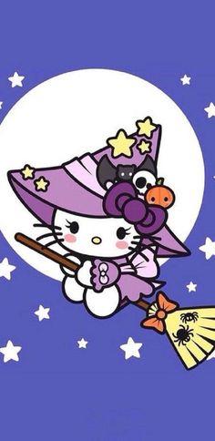 Hello kitty, halloween more hello kitty characters, hello kitty cartoon Hello Kitty Halloween, Kawaii Halloween, Halloween And More, Hello Kitty Birthday, Cute Halloween, Halloween Cookies, Halloween Fashion, Sanrio Hello Kitty, Hello Kitty Art