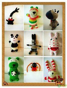 Huey Sim's Handmade: Sock Animals