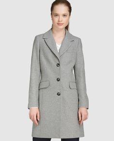 Abrigo básico de mujer Fórmula Joven en color gris