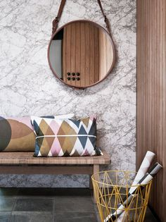 Stone effect nonwoven wallpaper MARBLE Marble Collection by ferm LIVING