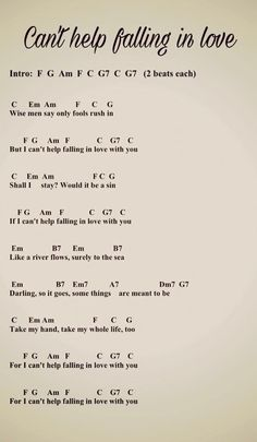 Learn how to play this song on guitar -> guitar chords with guitar lesson. post Can& Help Falling in Love Guitar Chords, Guitar Lesson appeared first on Ukulele Music Info. Guitar Chords And Lyrics, Guitar Chords For Songs, Uke Songs, Guitar Sheet Music, Guitar Lessons, Ukulele Art, Piano Music With Letters, Flute Sheet Music, Guitar Chord Chart