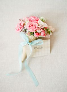 """This mini ice cream bouquet is too perfect for a """"She Got Scooped Up"""" Bridal Shower"""