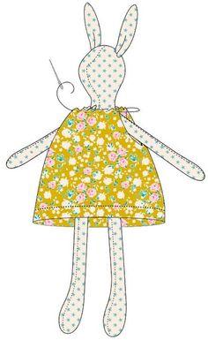 Crochet Teddy Bear Pattern, Crochet Bunny, Crochet Dolls, Doll Clothes Patterns, Doll Patterns, Bear Patterns, Fabric Toys, Paper Toys, Bunny Toys