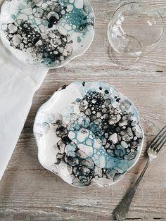 Clay Plate Ceramic Dessert Plates Handmade Ceramic Plate Stay Young Plate Ready to Ship Ceramic Plate Handmade