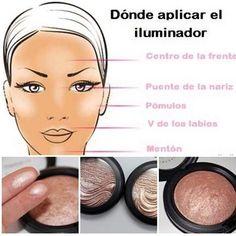Illuminator Makeup How To Use - Makeup Vidalondon Beauty And More, Beauty Make Up, Diy Makeup, Makeup Tips, Party Makeup, Illuminator Makeup, Makeup Artist Tips, Makeup Tutorial Foundation, Makeup Tumblr