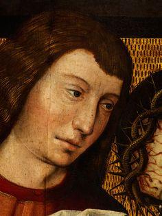 Figurengruppe in Nahansicht gebracht, der Leichnam Christi als Dreiviertelfigur…