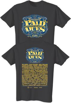 Guerilla Union Official Online Store - Paid Dues 2012 Official Black T-Shirt, $20.00 (http://www.guerillaunionstore.com/paid-dues-2012-official-black-t-shirt/)