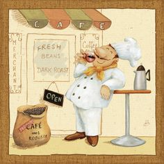 Great Big Canvas 'Chef's Market IV' Daphne Brissonnet Graphic Art Print Size: H x W x D, Format: White Framed Frames On Wall, Framed Wall Art, Canvas Wall Art, Wall Art Prints, Canvas Prints, Big Canvas, Illustrations Vintage, Posters Vintage, Le Chef