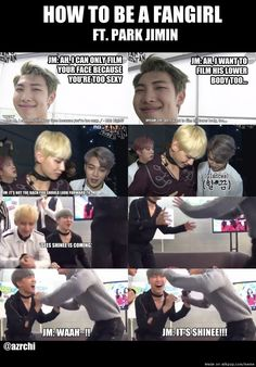 Fanboying 101 featuring Jimin.