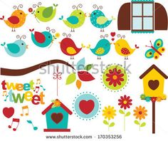 Summer Garden Birds by MyClipArtStore.com, via Shutterstock