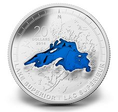 1 oz. Fine Silver Coin - Lake Superior - Mintage: 10,000 (2014)  •  March 2014: Lake Ontario •   June 2014: Lake Erie •   October 2014: Lake Michigan •   February 2015: Lake Huron