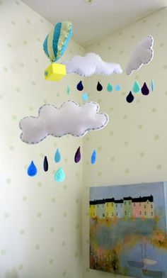 Project Nursery - Mint Green Nursery with Cloud Mobile