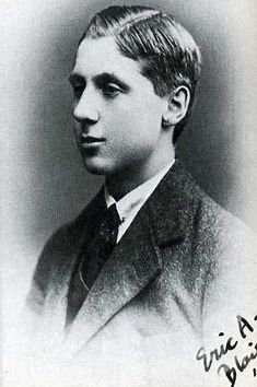 Eric Blair (George Orwell) aged 18, in his school picture taken at Eton, 1921