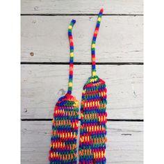 Unique handmade crochet rainbow belt, handmade LGBT Pride belt,... ($30) ❤ liked on Polyvore featuring accessories, belts, crochet belt, wide belt and macrame belt