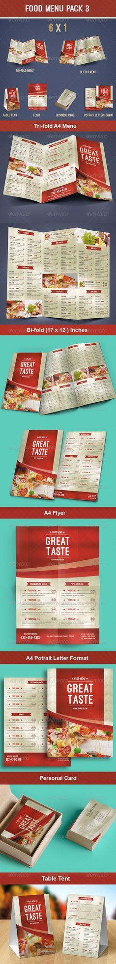 Food Menu Pack Template #design Download: http://graphicriver.net/item/food-menu-pack-3/8565596?ref=ksioks