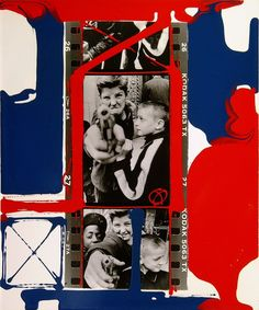 William KLEIN :: Gun n.1, New York, 1955 [painted contact, another version]